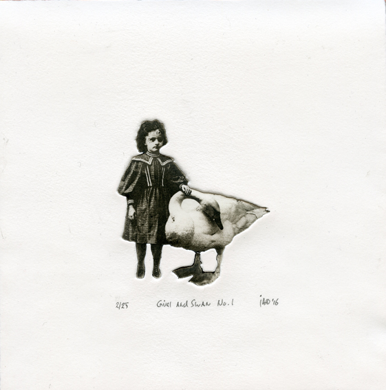 Putker, Jaco: Girl and Swan I photo-polymer etching
