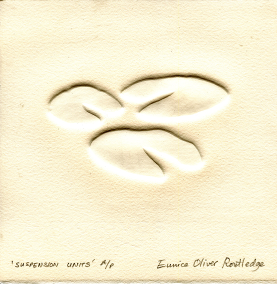 Routledge, Eunice: Suspension Units embossment