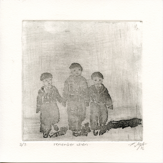 Upton, Evelyne: Remember When sugarlift etching