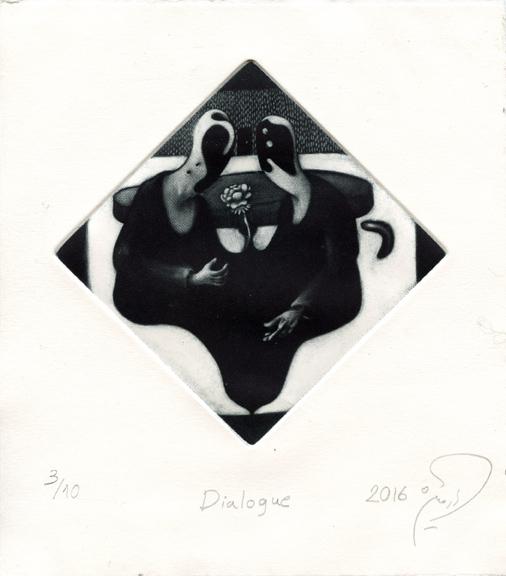 Valipour, Armin: Dialogue mezzotint