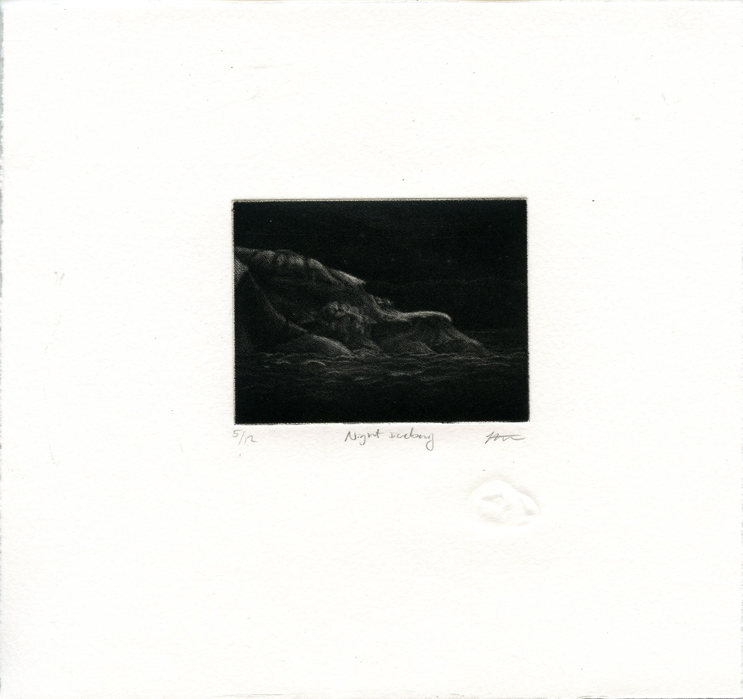 Stephenson, Kelsey - Night Iceberg - Mezzotint