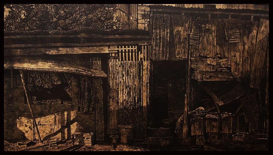Teppong Hongsrimuang, woodcut