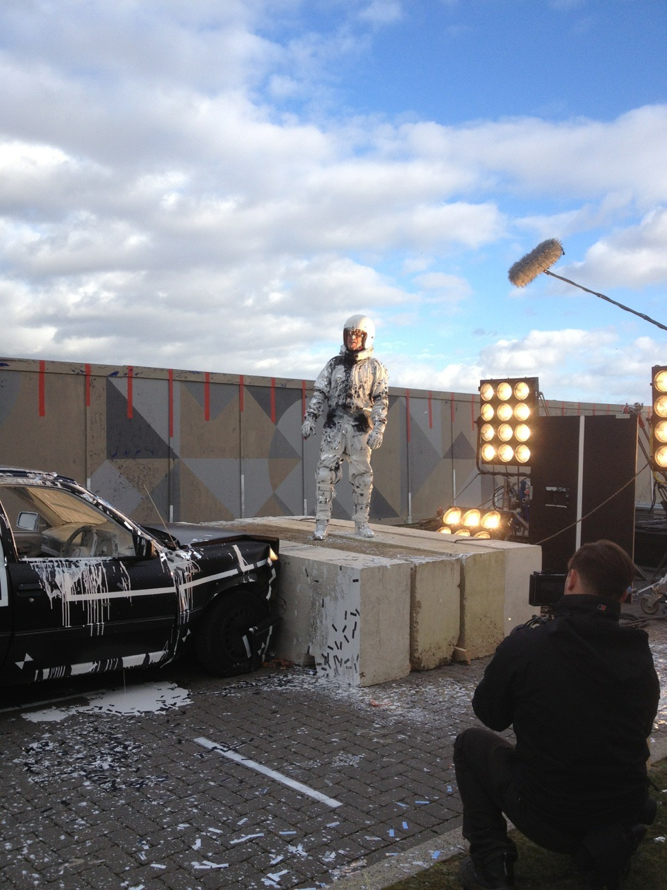 Filming Still yourself and calm your boots 2014 on location at High House Production Park, Purfleet.