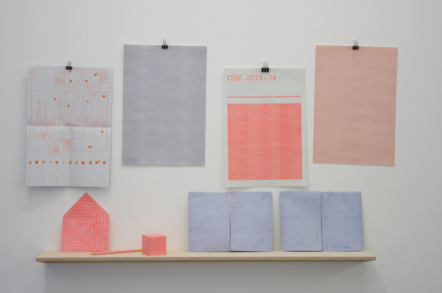 Yemi Awosile, Ephemera, installation view at PEER, 2014
