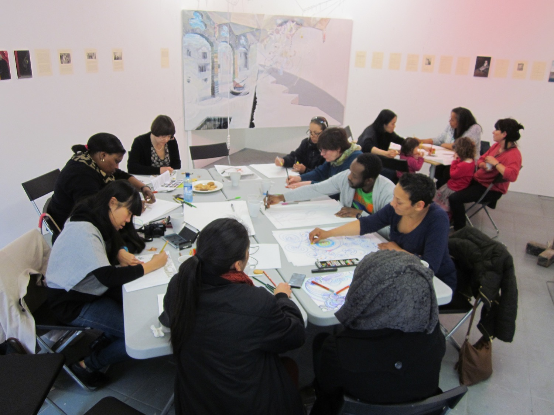 Drawing workshop during open studio week, April 2013