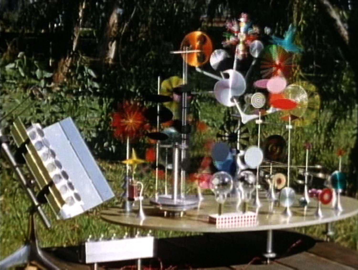 Charles and Ray Eames, Solar Do-Nothing Machine, 1957. Film still. Image courtesy Eames Office and Pyramid Media.