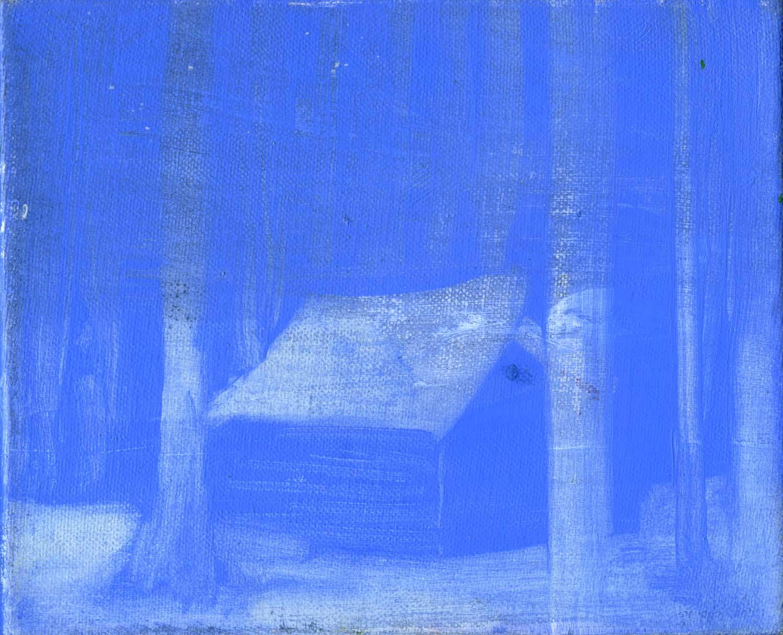 Blue Hut , 2008 17 x 21 cm oil on canvas