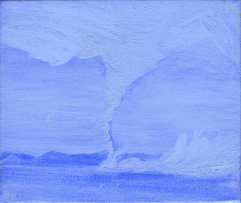 Blue Tornado , 2008 17 x 19.5 cm oil on canvas