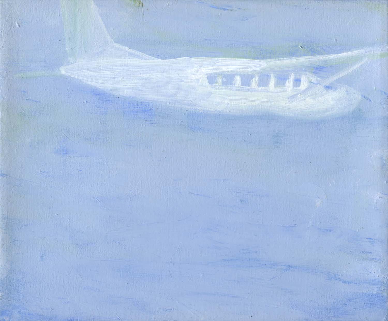 Cloudseeder , 2008 19.5 x 23.5 cm oil on canvas