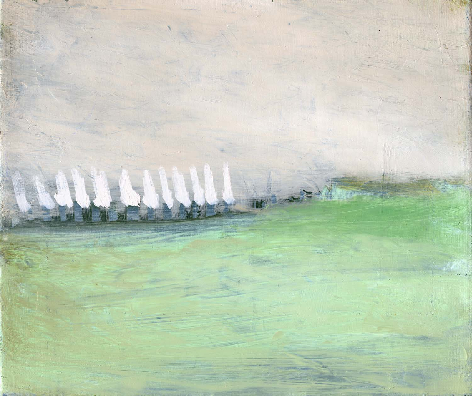 Meteorological Situation at 16.00 hours , 2008 22 x 26 cm oil on canvas