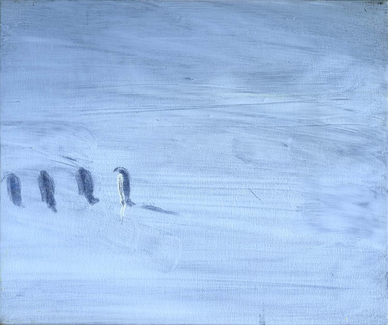 Penguins  2008 20 x 24cm, oil on canvas
