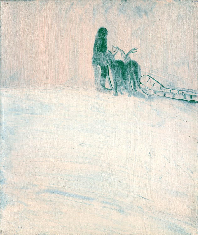 Sleighgirl  2008 30.5 x 26cm, oil on canvas