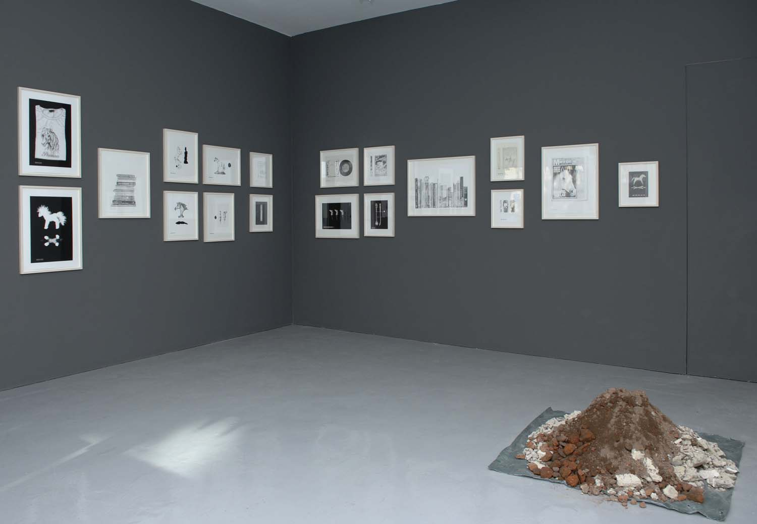 Installation view of gallery excavation in Small Finds