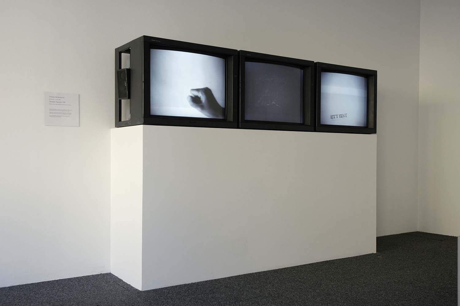 Installation shot of Passages Paysages