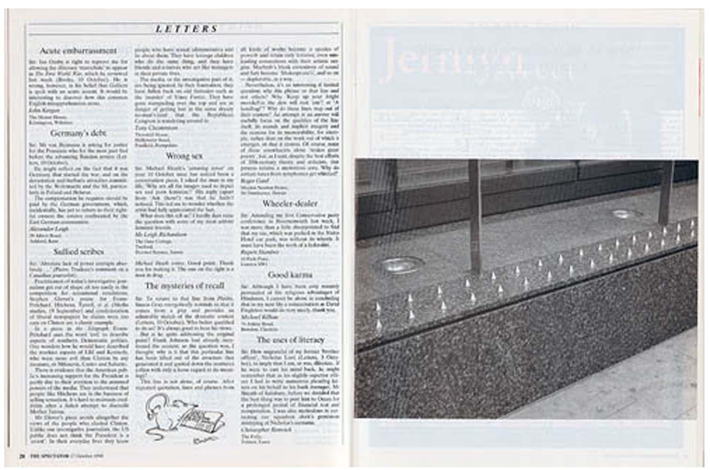 Richard Wentworth,  The Spectator, 17 Oct 1998