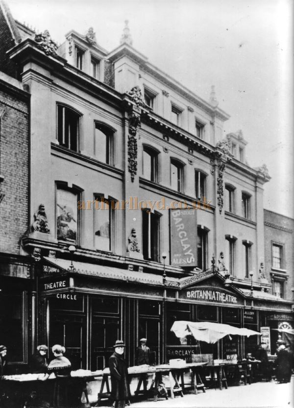 The Britannia Theatre which used to stand where the flats are now