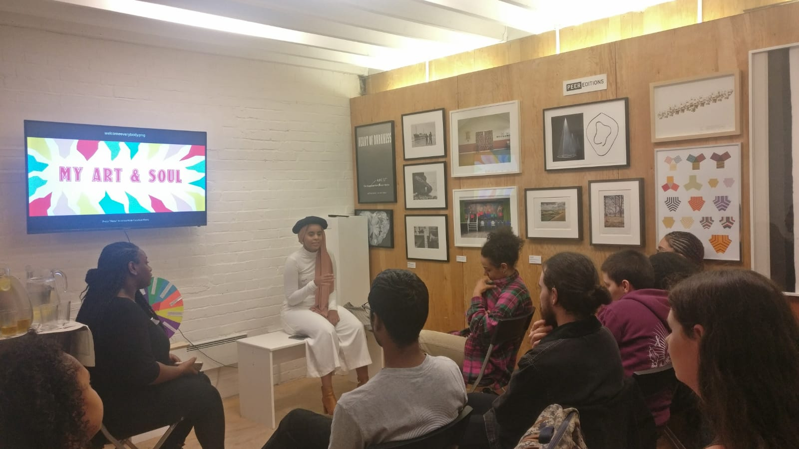 Najwa Umran discussing Female Muslim Creatives