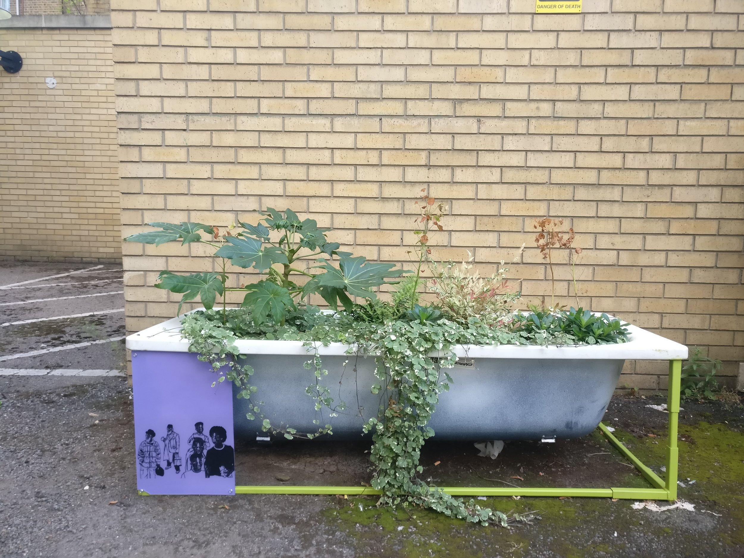 Shoreditch Library tub
