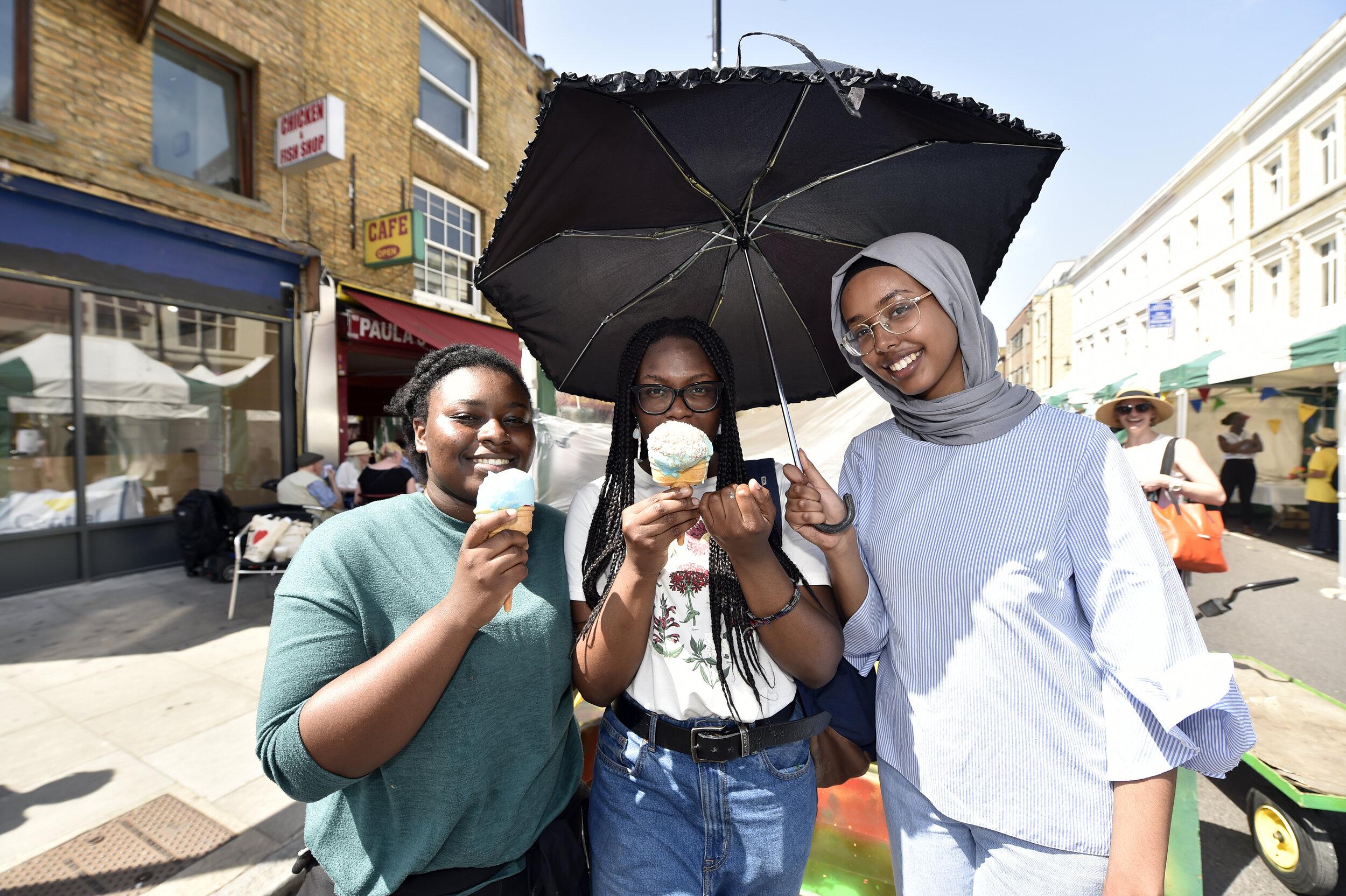 PEER Ambassadors Fatim, Amida and Aantu