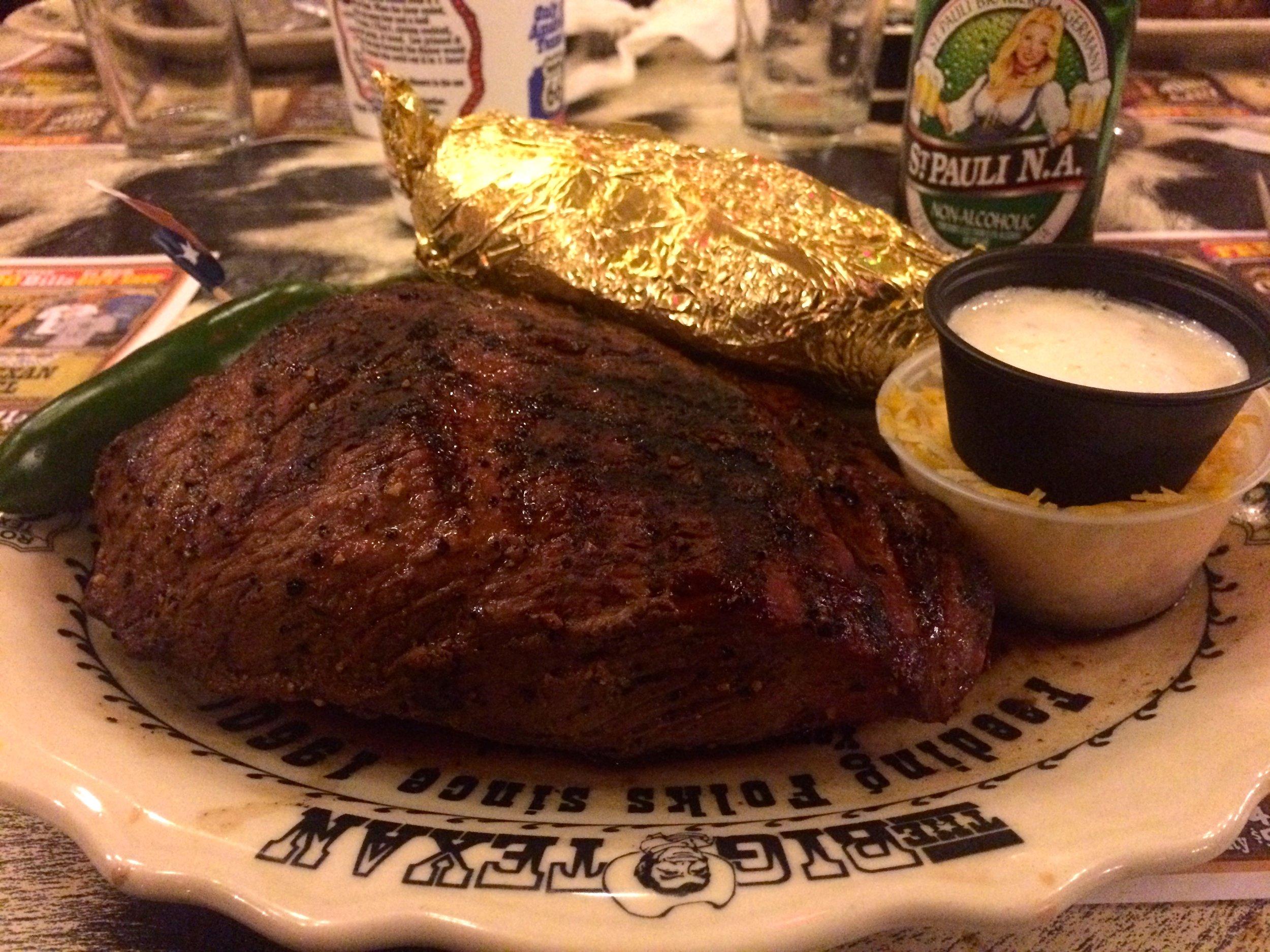 21 unssia texasilaista naudan lihaa.