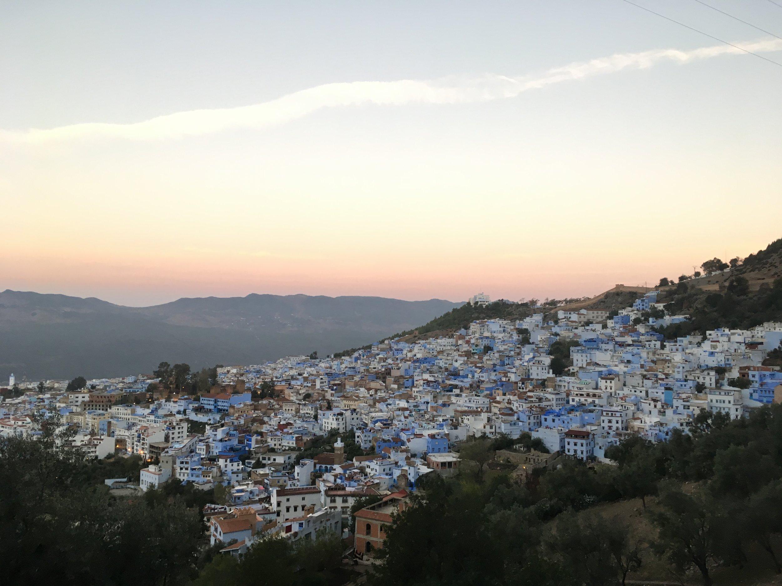 Chefchaouenin sininen kylä...