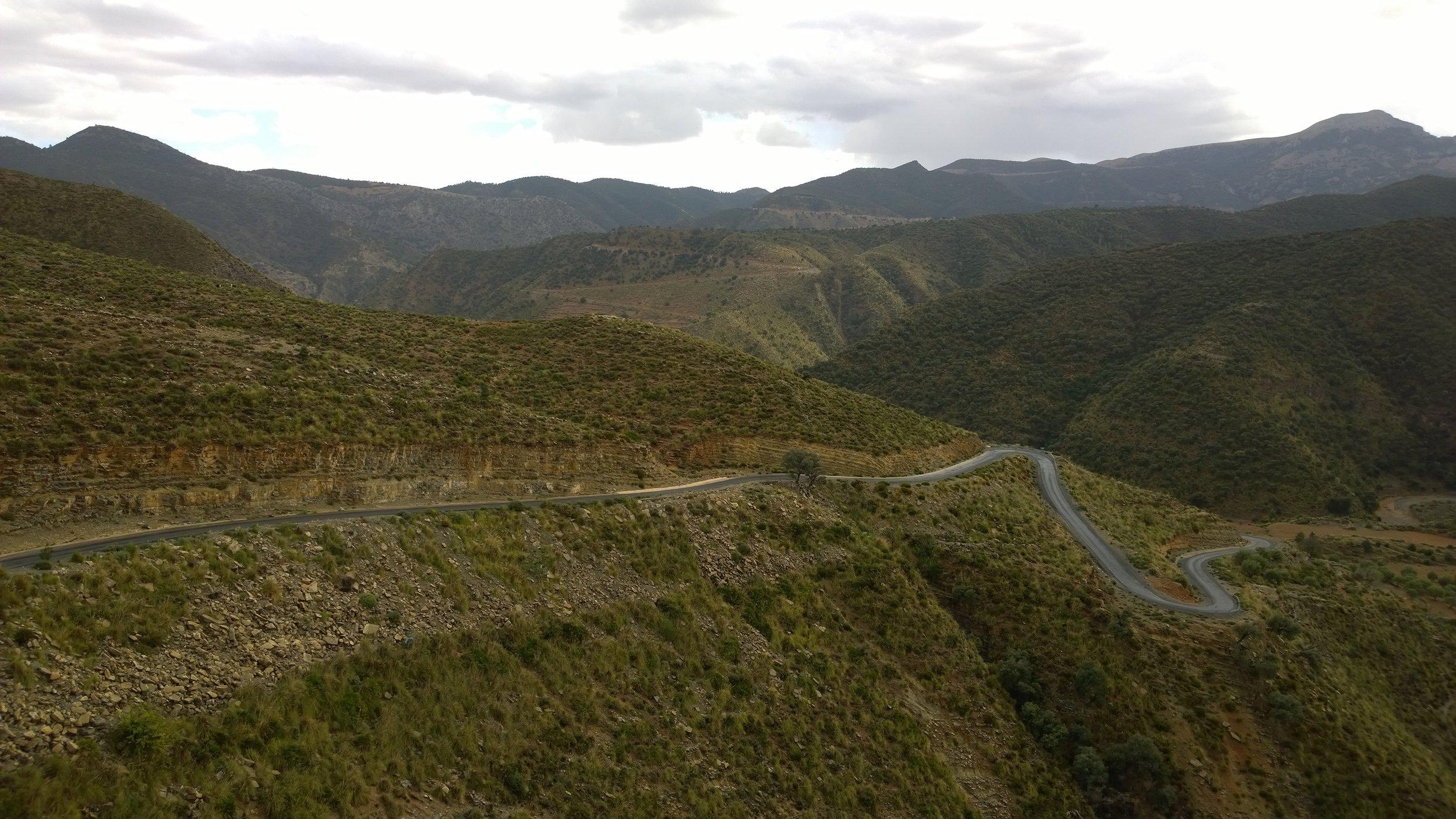 Taas yksi esimerkki Marokon ajoreitteista ;)