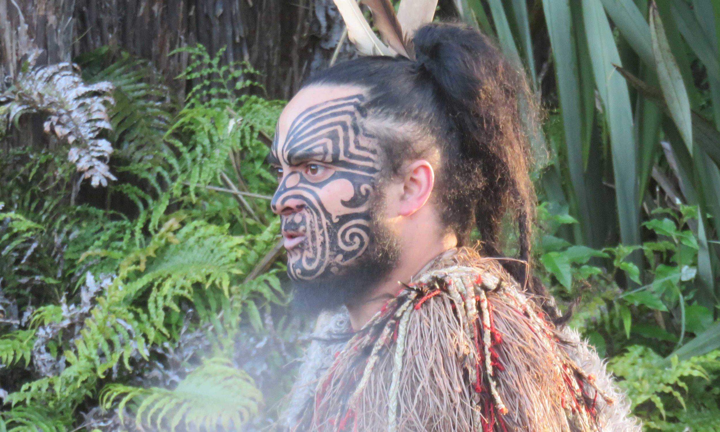 Maori-päällikkö!
