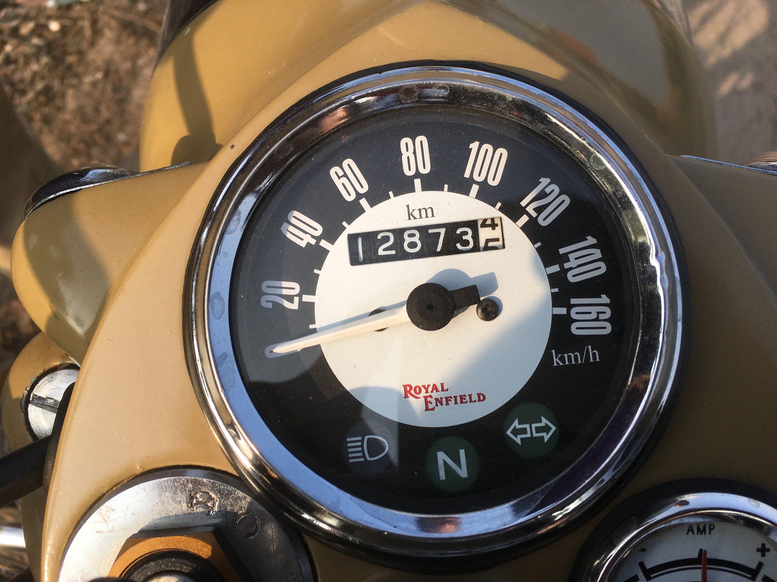 Virallinen mittarilukema - tästä kuva matkan lopussa ja saadaan ajettu matka laskettua...