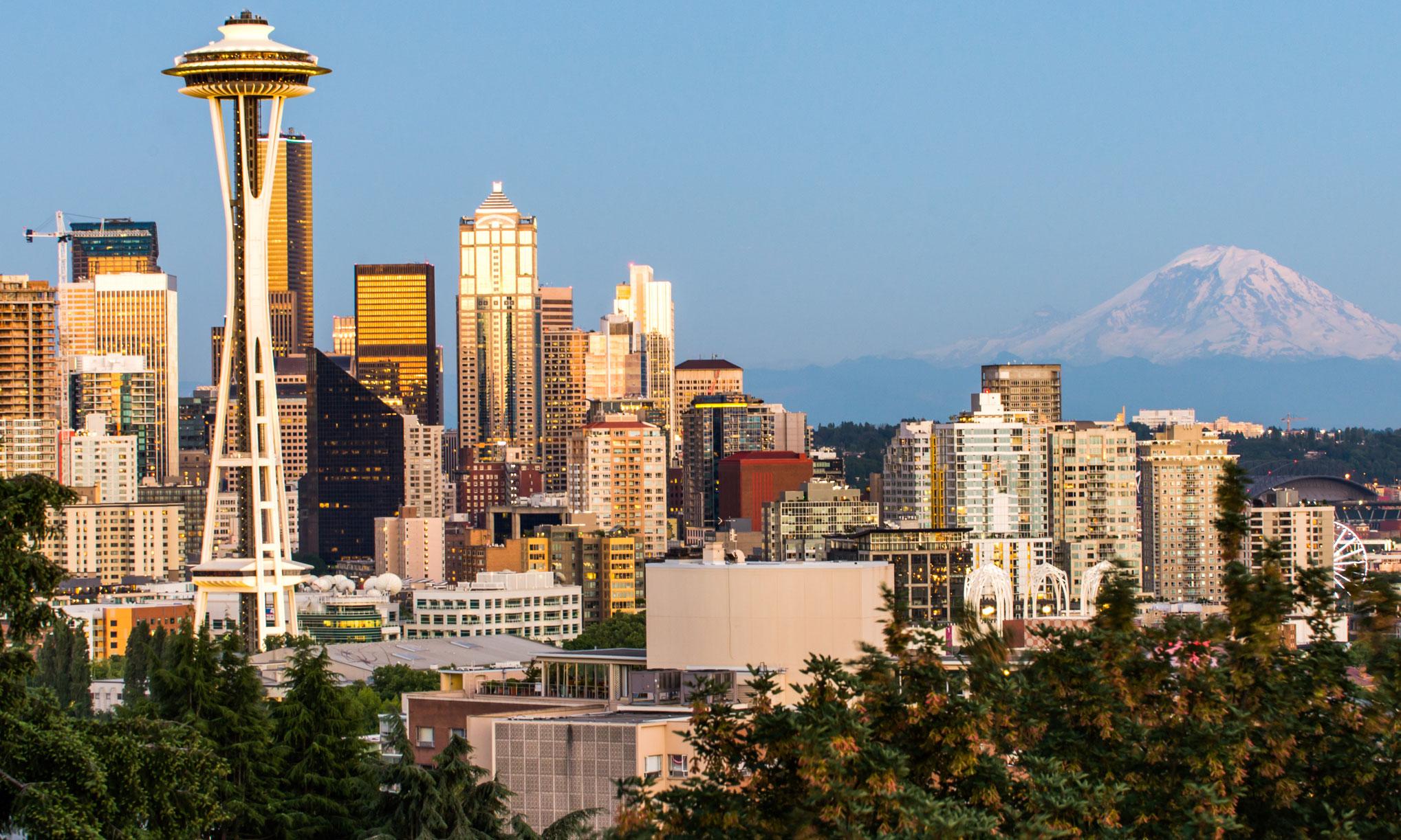Seattle & Mt Reinier
