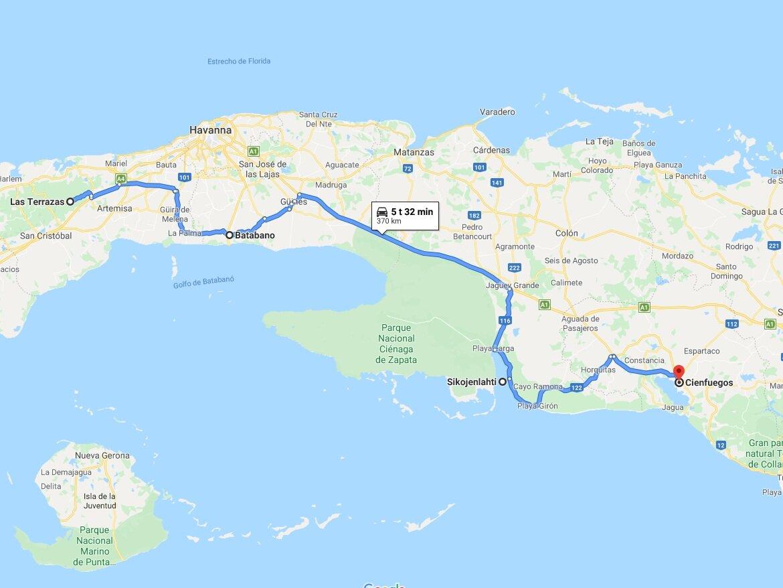 Paivat 5 7 Kuuba Las Terrazas Sikojenlahti Cienfuegos