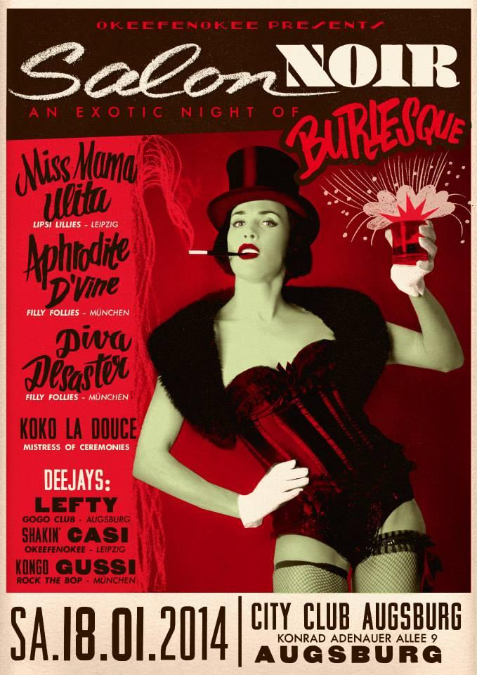 Salon Noir Flyer by Marcel Bontempi
