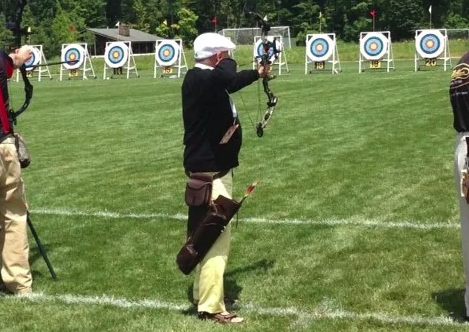 Charlie Edwards competes at the 2015 National Senior Games. (Courtesy of Charlie Edwards)