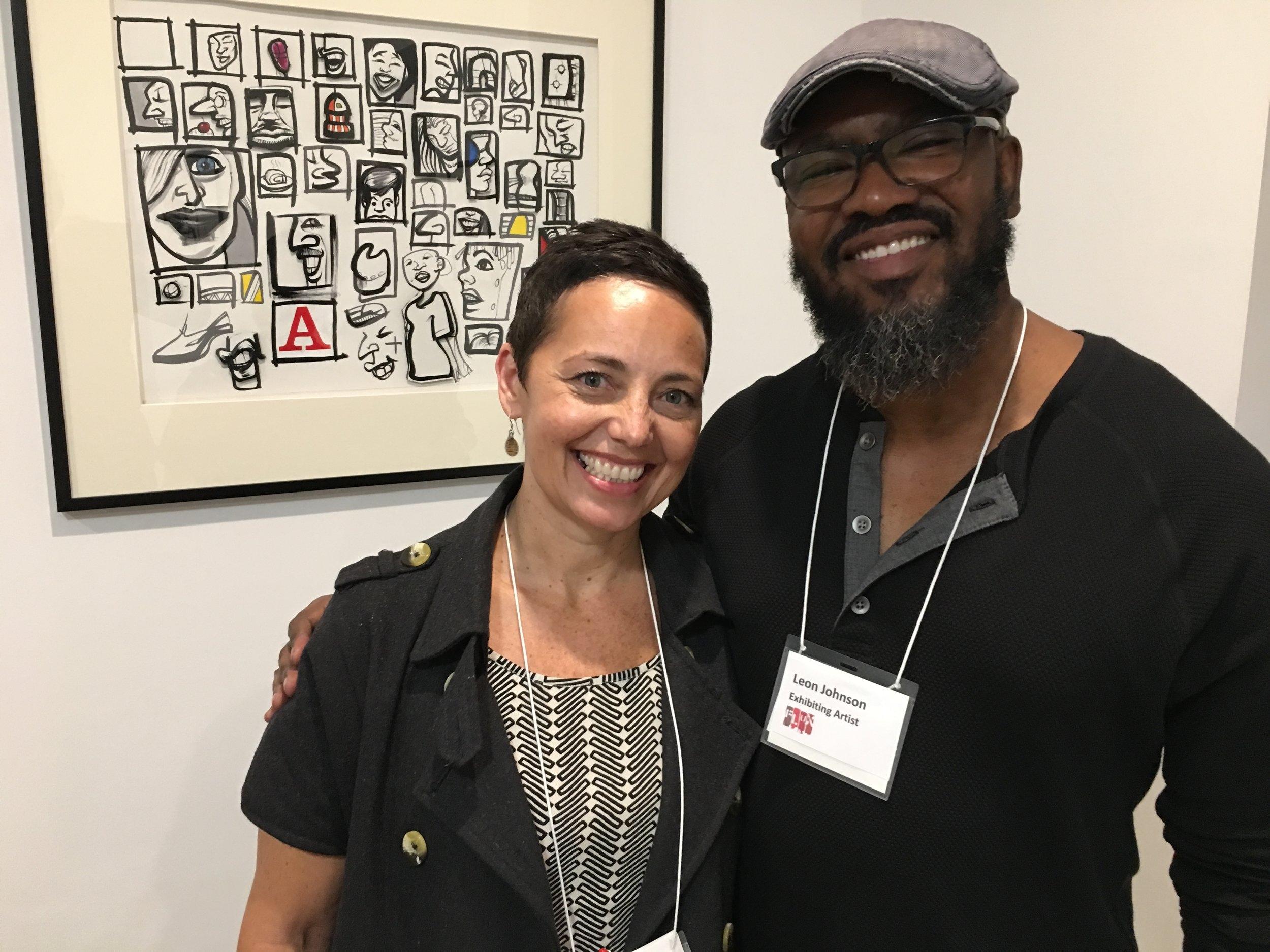 Leanne Stella, curator of Art In Flux gallery
