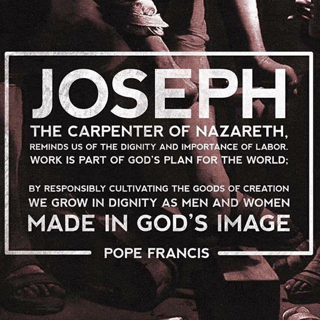 Happy Feast of St Joseph the Worker!! #ycwfeast #workers #josephtheworker