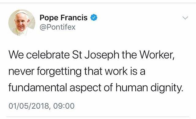 #stjosephtheworker #ycw #popefrancis