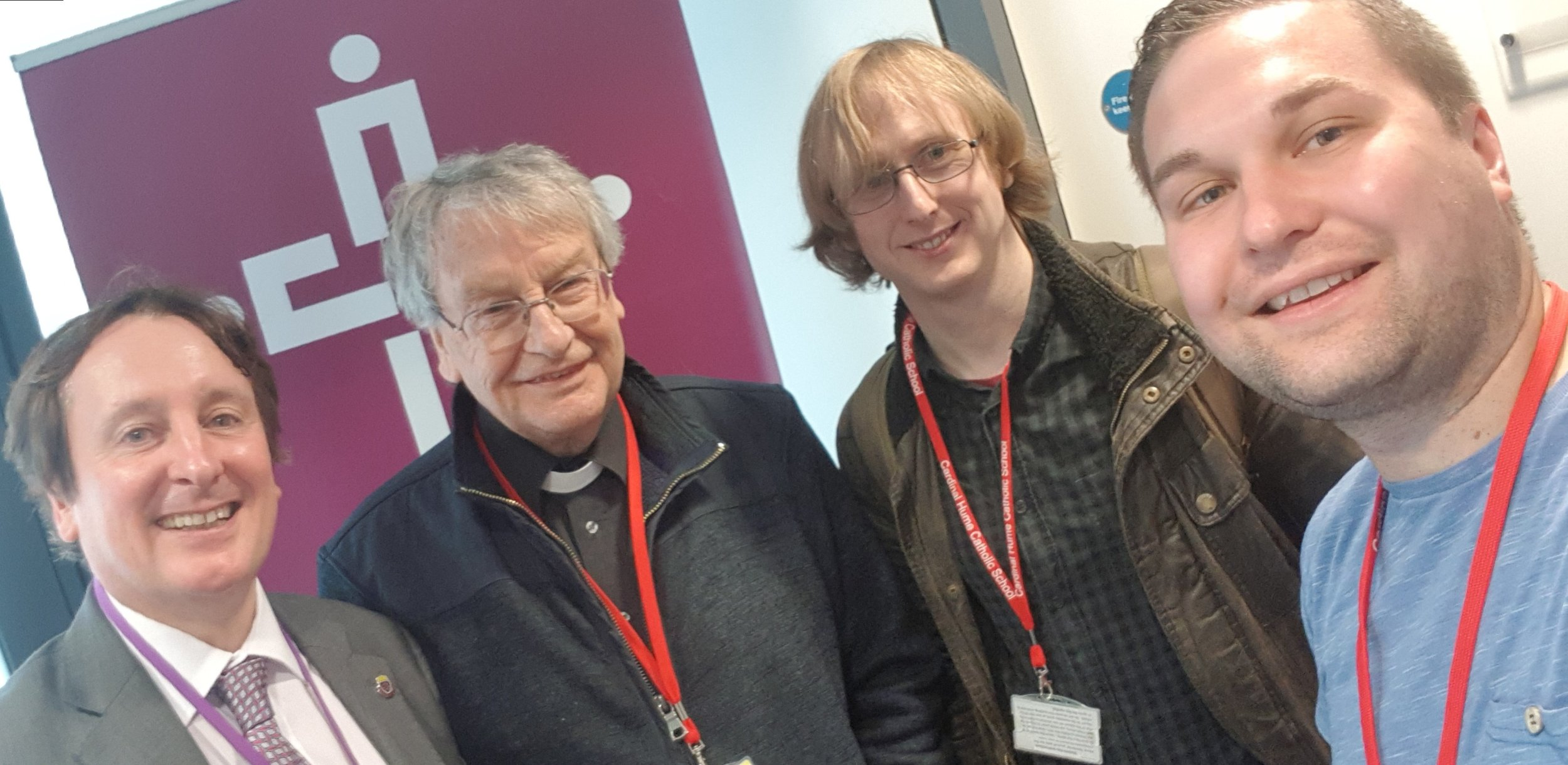Damian McCann, Fr John, Sean Smith, Me.jpg