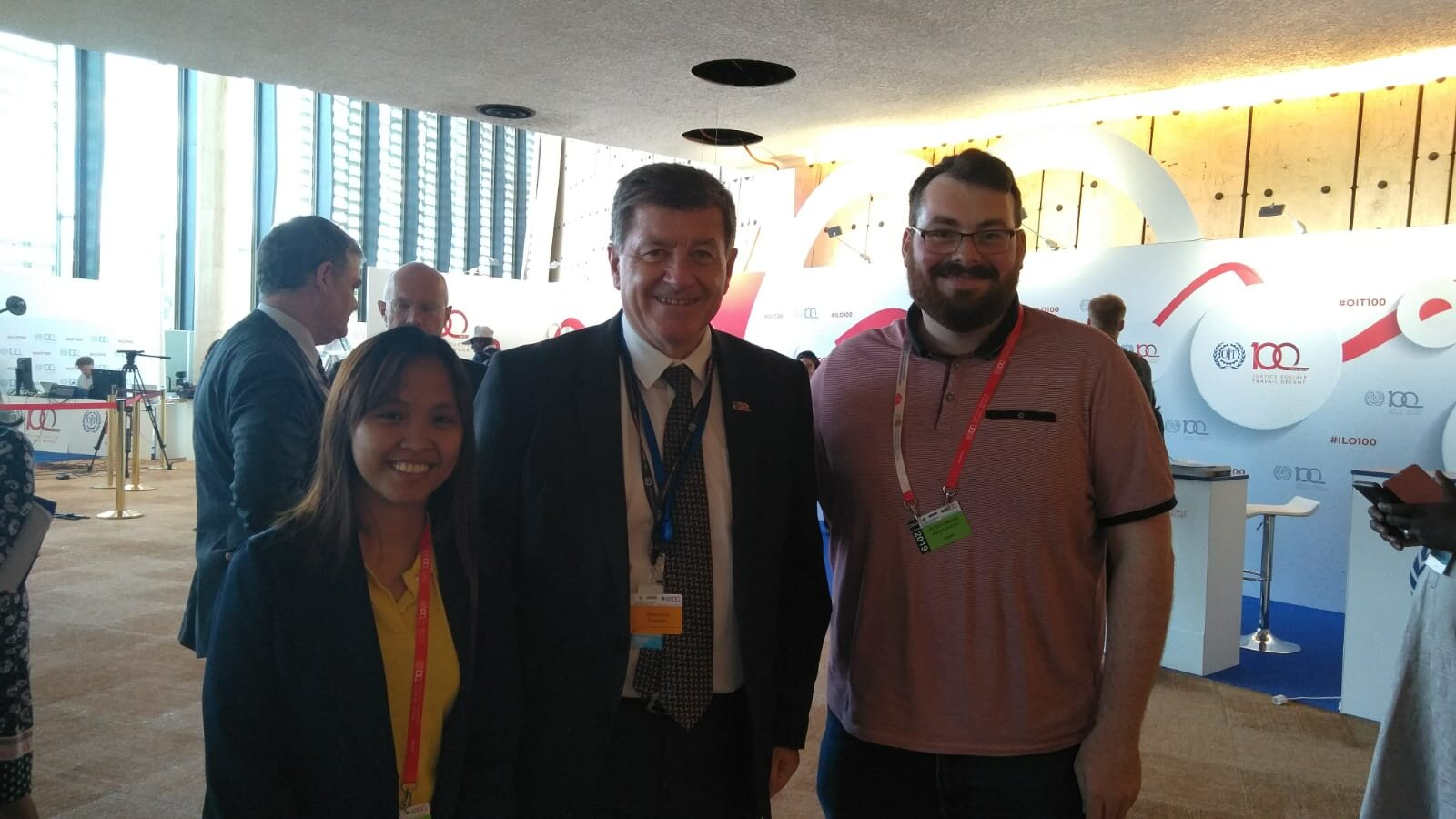 ICYCW Delegates with the Director-General of the ILO, Guy Ryder - who hails from Liverpool.
