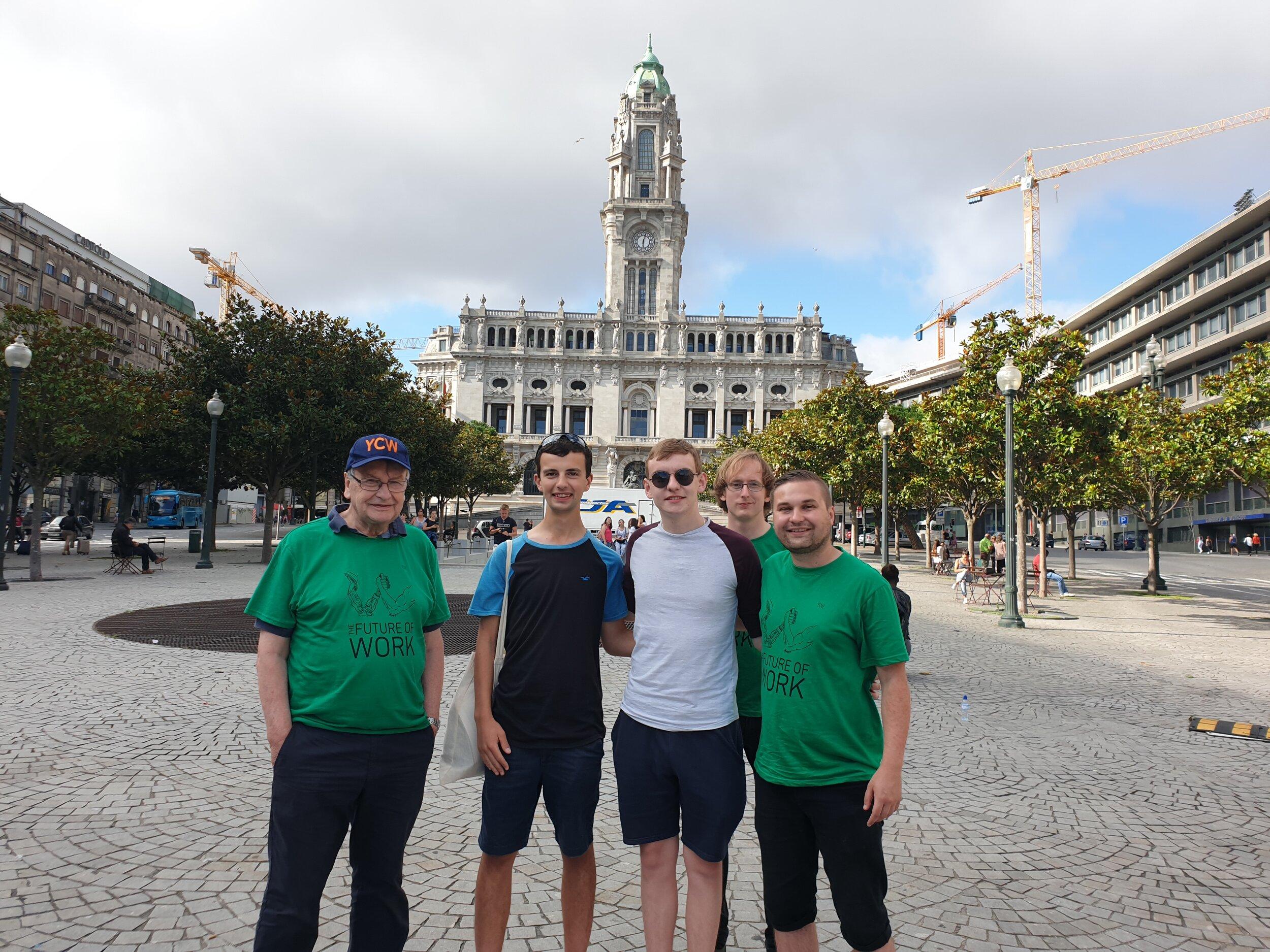 England & Wales YCW L-R Mgr. John Marsland, Ben Sinclair, Callum Walker, Sean Smith and YCW President Marc Besford.jpg