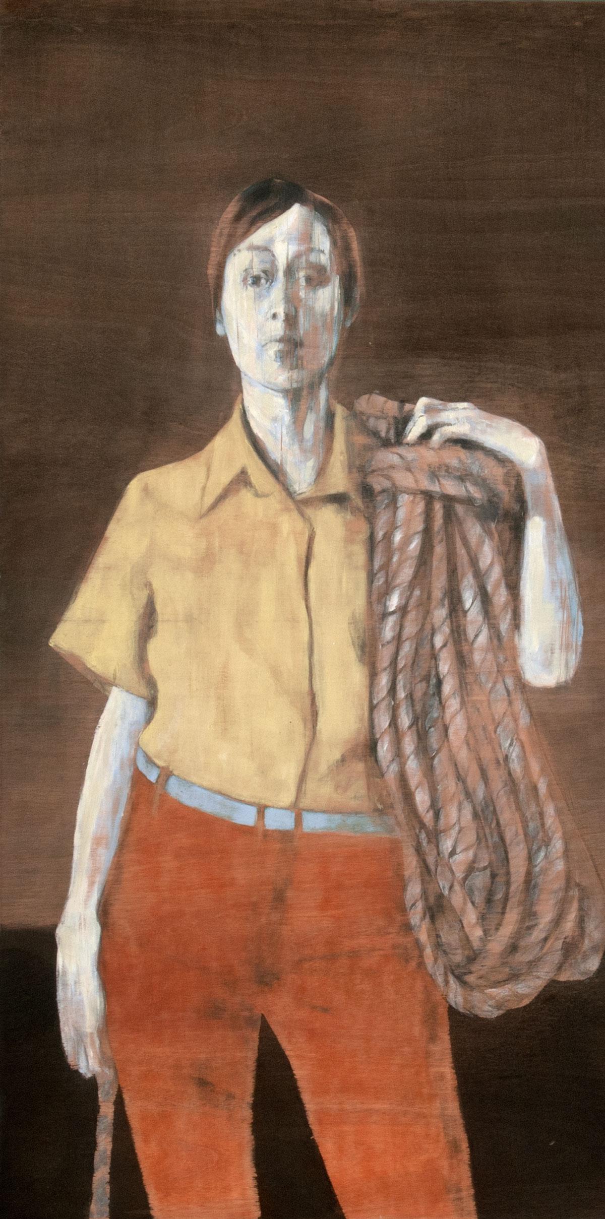 acrylic on wood  130 x 60 cm  2012