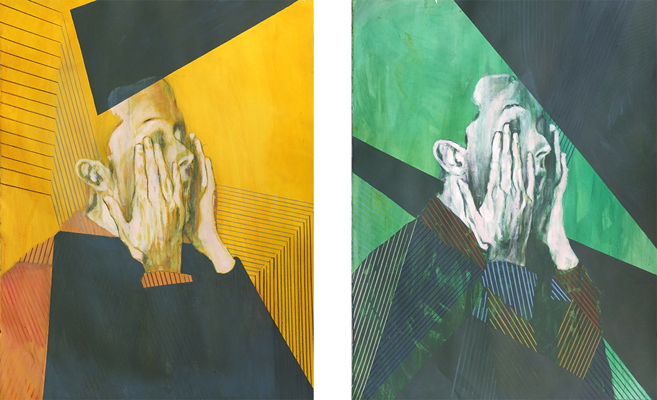 natural pigment and acrylic on paper   100 x 76 cm (each)  2013