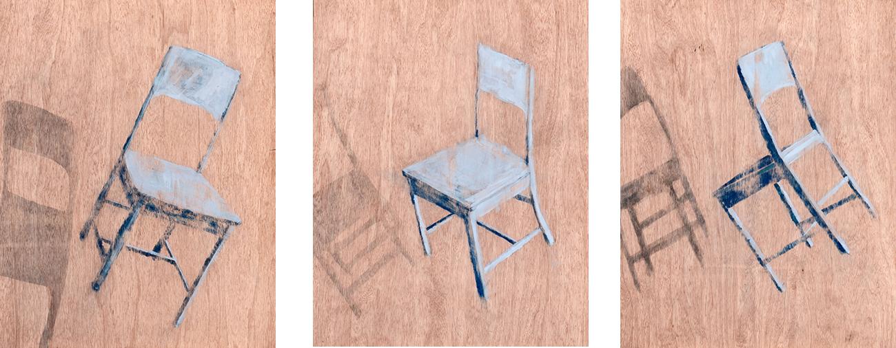 acrylic on wood  50 x 30 cm (each)  2012