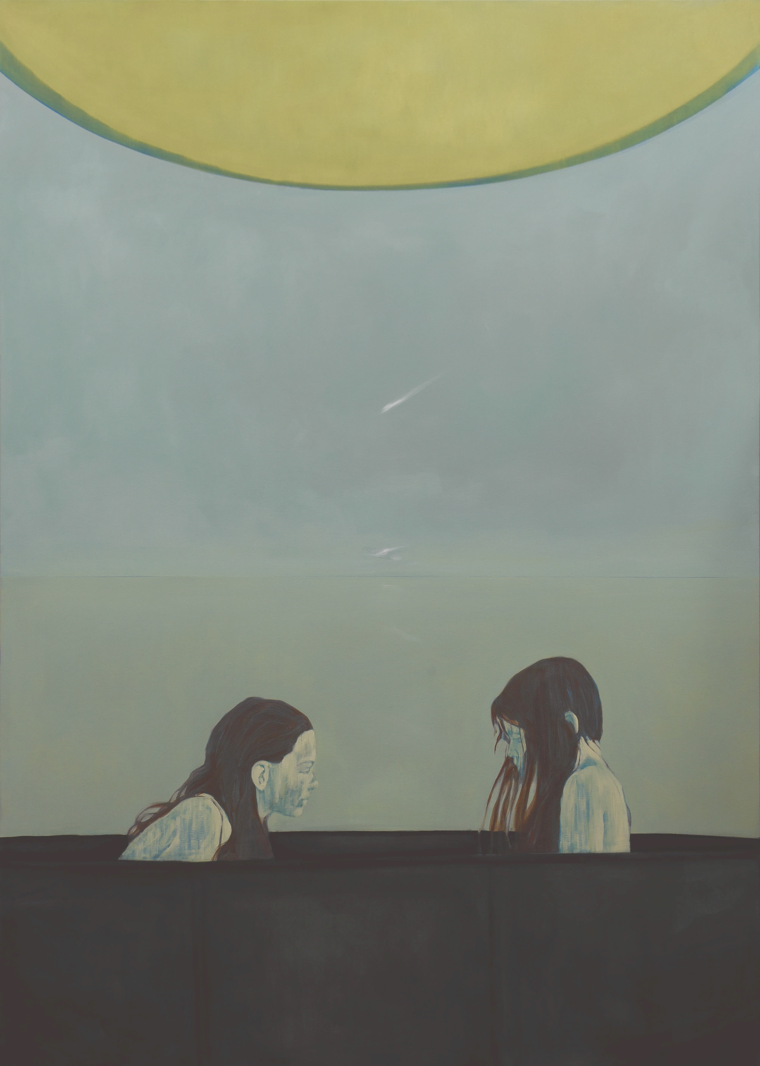 """""""Cumulonimbus""""  Oil on canvas  210 x 150cm  2015"""