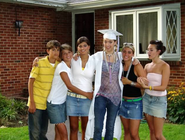 Cousin Jennifer's High School graduation day! We spent a day celebrating at pop-pops house