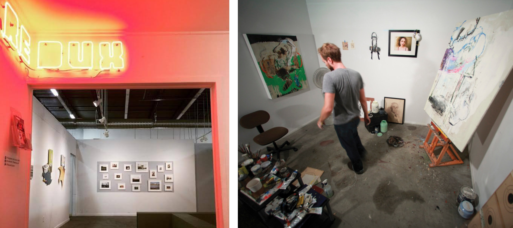 The Redux gallery and private studio example (shown artist is Tim Hussey)