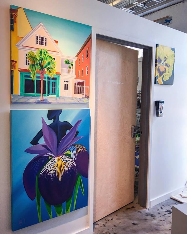 My studio door at  Redux Contemporary Art Center