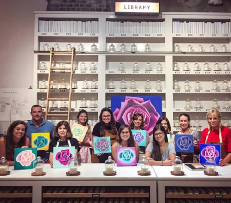 My first painting workshop at Candlefish was so much fun!