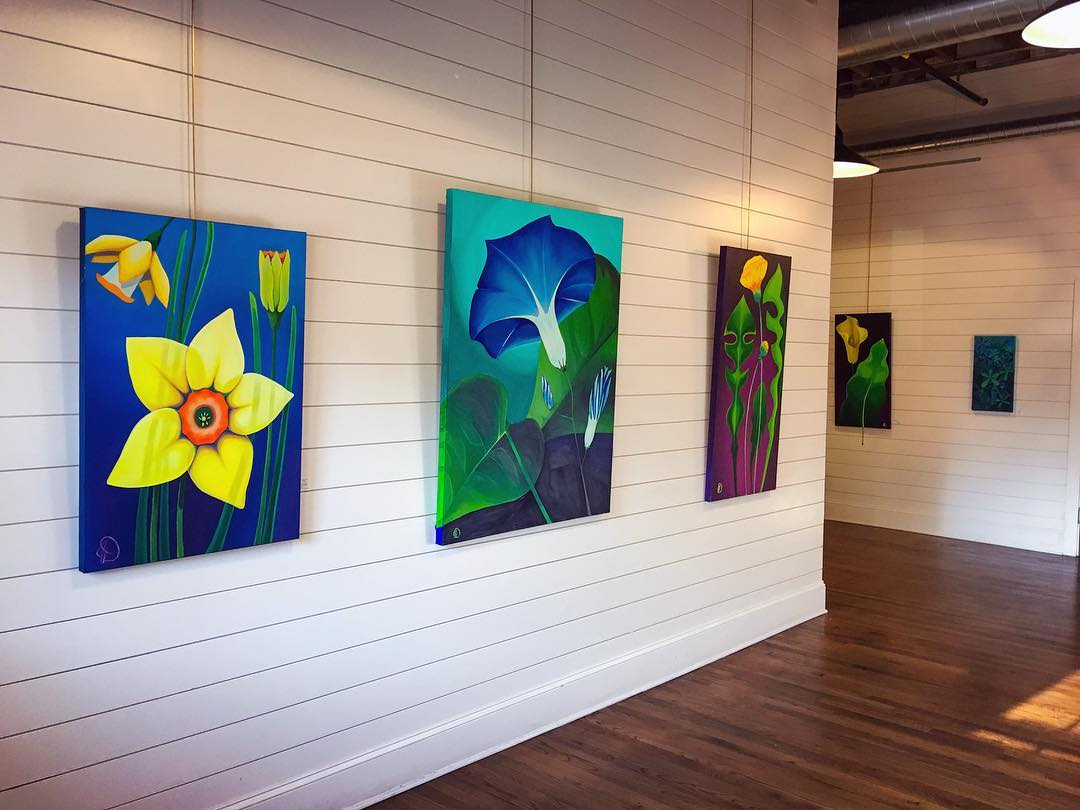 """Feeling Floral"", installed in The Schoolhouse"