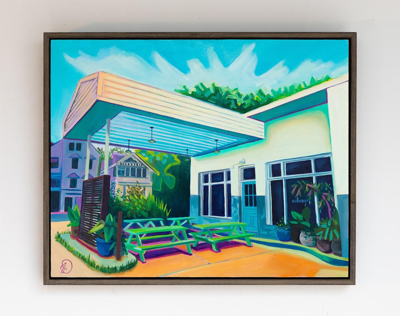 """""""Front Door Goals"""" 16x20 oil on wood panel"""