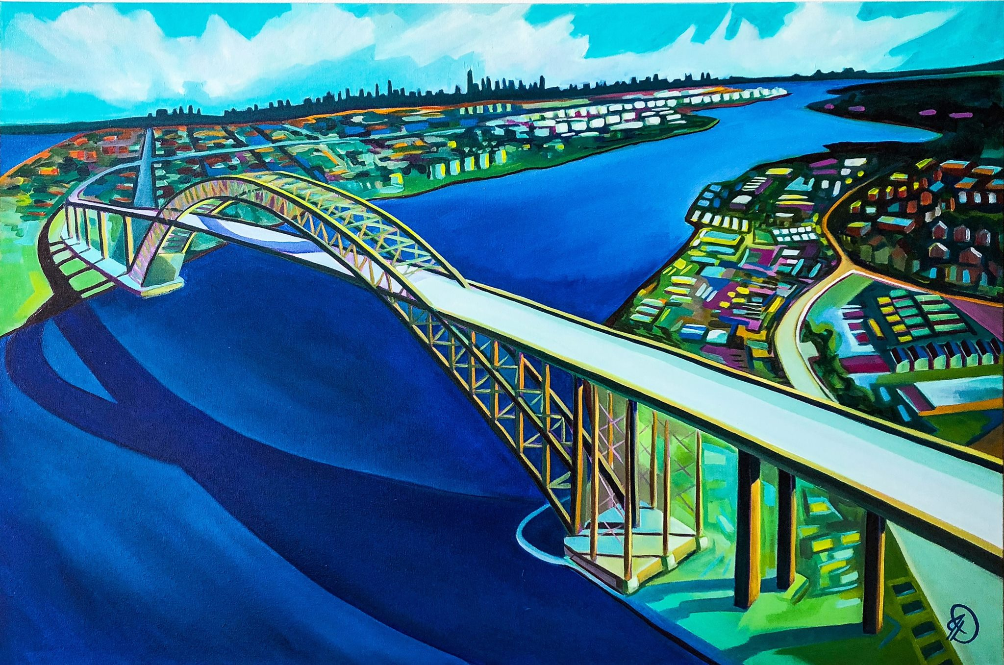 Bayonne Bridge, 24x36, oil on canvas, 2018.jpg