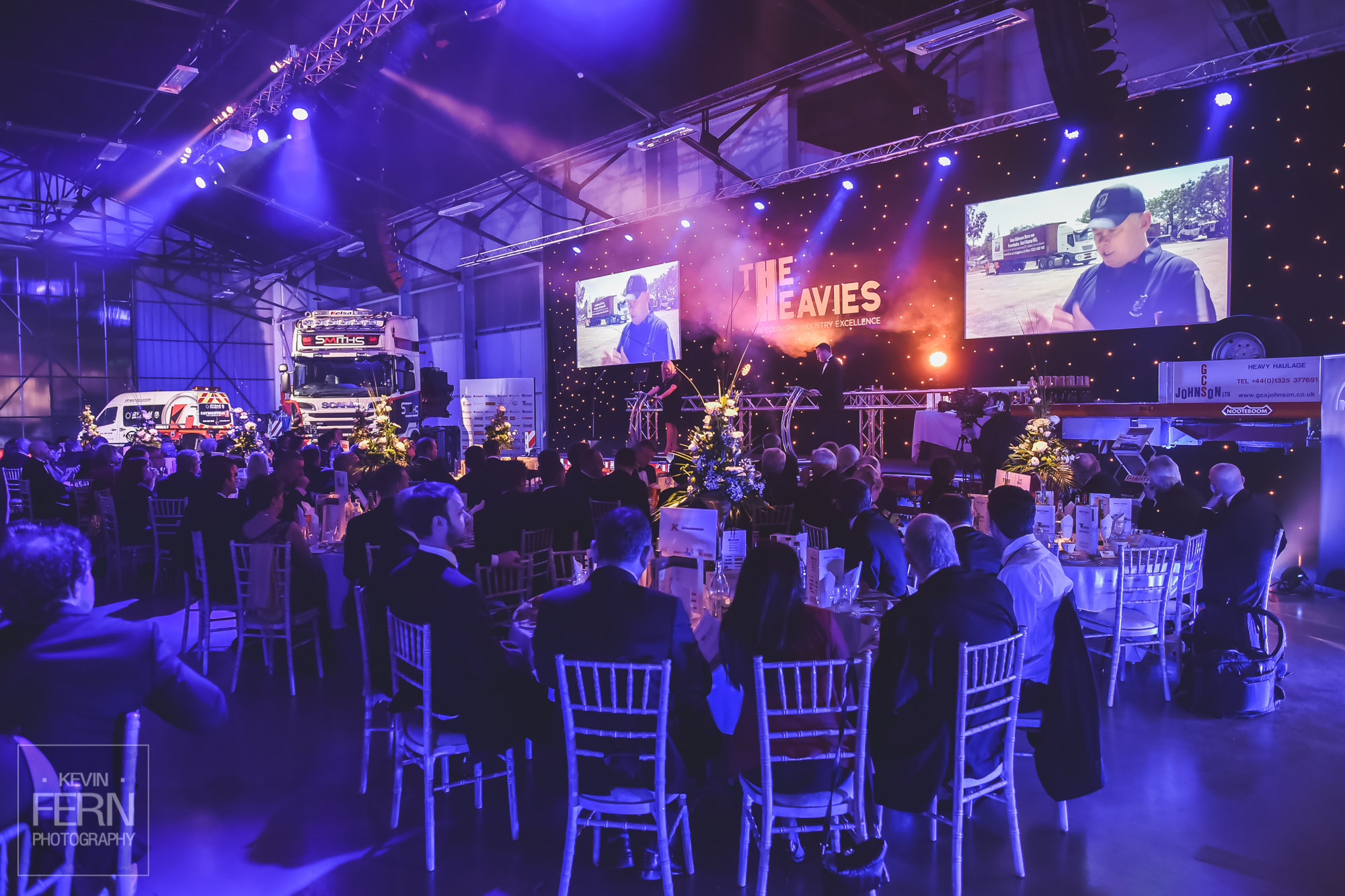 The Heavies corporate awards photography in Peterborough
